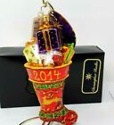 Christopher Radko Ornament Hung By Chimney This Year 2013 2014 Stocking 1017135