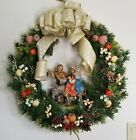 Nativity Christmas Wreath Holy Family Fruit Floral Arrangement 20 Fontanini