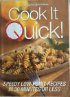 Weight Watchers Cook It Quick Cookbook Low Point Recipes In 30 Minutes Or Less