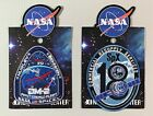 NASA SPACEX DM 2 FIRST CREWED FLIGHT PATCH AND CRS 18 PATCH USA