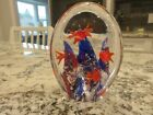 Vintage Murano Art Glass Aquarium Fish Tank Paperweight 4 3 4 X 3 1 2 EUC