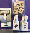 MARTHA STEWART CRAFT PAPER PUNCH EASTER BUNNY CRACKED EGG CHICKS LOT OF 3 Stamps