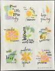Vintage Stickers Hallmark Sayings Excellent