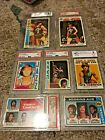 PISTOL PETE MARAVICH LOT OF 7 CARDS GRADED BY PSA AND BECKETT ALL 8-9!!