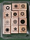 NEW Stampin Up Little Pieces Set Of 12 Flowers Small Circle Star Heart 2005