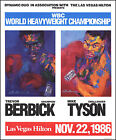 MIKE TYSON vs TREVOR BERBICK: Original Leroy Neiman Onsite Boxing Fight Poster