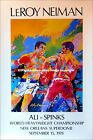 MUHAMMAD ALI vs. LEON SPINKS (2): Original Leroy Neiman Boxing Fight Art Poster
