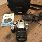Canon EOS 400D Digital SLR Camera - Silver with EF-S 18-55mm Lens, Charger