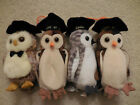 Lot of four(4) owl Beanie Babies Beanie Baby Wise, Wiser and Smarter MWMT