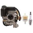 PUCKY 49cc 50cc Scooter Carburetor GY6 Four Stroke with Jet Upgrades