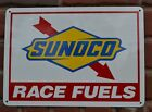 Sunoco Racing Fuel Gas Pump Sign Advertising Mechanic Garage Shop Free Shipping