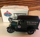 ERTL 1923 Chevy Amoco Red Crown Gasoline Truck Coin Bank 1:25