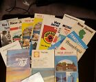 Vintage Lot of 14+ New Jersey/NY/PA Road Maps - 1960 - 1970's Esso Sunoco Shell