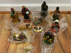 Vintage African American Nativity Scene Set Porcelain Painted