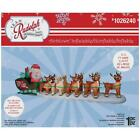 175 Ft COLOSSAL RUDOLPH SLEIGH Airblown Lighted Christmas Inflatable