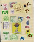 Canada Two Pages of Boy Scout Stickers Stamps Labels  3 Cacheted Covers