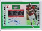 2019 Contenders Optic Bryce Love Auto Rookie College Ticket Green Prizm 1 5 (K2)