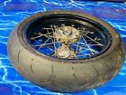 KTM Supermoto Complete Rear Wheel Rim OEM Black Stock Assembly 17inch x 5 OEM