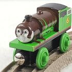 Thomas the Train CHOCOLATE COVERED PERCY Wooden Railway Toy Learning Curve 2003