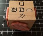 Wooden Rubber Stamp Cube Stamping Letter D Alphabet Letter NEW 5 in 1 LOWSHIP