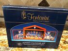 25 Piece Advent Calendar w Wood Stable By Fontanini Nativity Scene Christmas