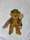 "Plush Hand Beanie Bear. ""Fisherman Charlie"" March of Dimes"