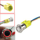 12v Latching Push Button Power Switch Stainless Steel Metal Waterproof W Led