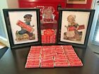 Coca Cola Gum Display Glass Jar Dutch Boy  Girl 90 Packs Of Gum Allan Petretti