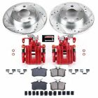 KC940 Powerstop 2 Wheel Set Brake Disc and Caliper Kits Rear for Allroad Quattro