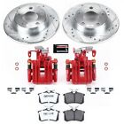 KC940 26 Powerstop Brake Disc and Caliper Kits 2 Wheel Set Rear for Audi 01 05