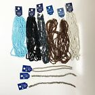 Lot of 9 Blue Moon Beads Mixed Colors Glass Seed Bead Strands