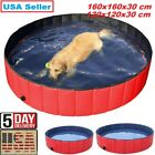 Portable Pet Dog Swimming Pool Foldable Puppy Cat Bathtub Bathing Tub 160x30 cm