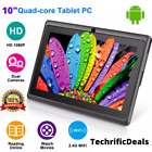 10 Inch Tablet PC Android Quad Core 16GB 32GB HD WIFI Dual Camera WiFi Gift NEW