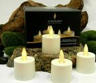 Luminara Flameless Moving Wick Tea lights Candles Ivory with Remote Timer