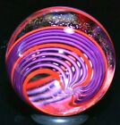 JAMES ALLOWAY GLASS MARBLE 1192 DICHROIC PURPLE RED  2873 LAVENDER  CHERRY