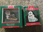 HALLMARK Ornament 1989 & 90 Frosty Friends IOB Collector's Series