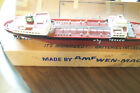 Vintage Texaco battery operated model gas, oil tanker ship North Dakota.