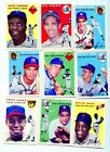 TOPPS ARCHIVES 1953 & 1954 BASEBALL REPRINTS COMPETE SETS & WRAPPER