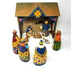 Jim Shore 10 Piece Nativity Manger Set Heartwood Creek 2004 Christmas decor flaw