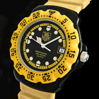 TAG HEUER PROFESSIONAL FORMULA 1 YELLOW-RACING WR-200M DIVER SWISS UHR 380.513