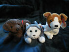 Lot of three (3) Ty dog Beanie Babies Nanook, Kippy and Fetcher Beanie Baby