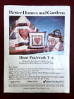 Vtg QUILTED TOTE BAG KIT Better Homes  Gardens Calico Patchwork Heart