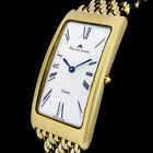 MAURICE LACROIX FIABA 18K/750er GOLD-PLATED CURVED LONGFACE SWISS MADE LUXUS UHR
