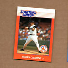 1988 Kenner Starting Lineup Cards #21 Roger Clemens Boston Red Sox FREE SHIPPING