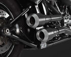 Vance  Hines Hi Output Grenades 2 Into 2 Exhaust Black w Nickel Tips 46848