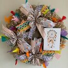 Southwestern Wreath Native American Feathers And Dream Catchers Front Door De