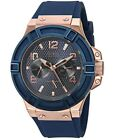 Guess Blue and Rose Gold-Tone Ladies Watch 40mm U0571L1