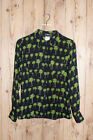 VERSACE JEANS COUTURE 90s Palm Tree Print Shirt SIZE XS Vintage Sheer Gianni