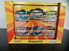 Matchbox New Superfast 2005 6 Car Target Tin Giftset Exclusive Recolours SEALED
