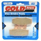 Front Disc Brake Pads for Gilera Cougar 125 2002 125cc  By GOLDfren